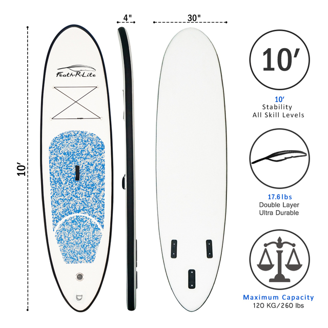 FunWater 305*74*10cm Inflatable Stand Up Paddle Board surf paddle baord sup paddle