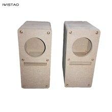IWISTAO HIFI 2 Cal labirynt głośnik pełnozakresowy pusta szafka 1 para MDF deska drewniana klej darmowy projekt