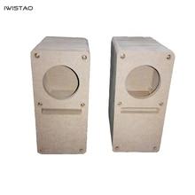 IWISTAO HIFI 2 Inch Labyrinth Full Range Speaker Empty Cabinet 1 Pair MDF Wood Board Adhesive Free Design