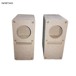 Image 1 - IWISTAO HIFI 2 Inch Labyrinth Full Range Speaker Empty Cabinet 1 Pair MDF Wood Board Adhesive Free Design