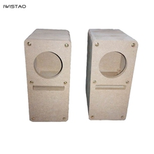 IWISTAO HIFI 2 pouces labyrinthe gamme complète haut-parleur vide armoire 1 paire MDF bois planche Design sans adhésif
