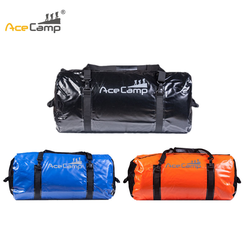 AceCamp 90L Fishing Sport Bag Outdoor Camping Waterproof Dry Sack Rafting Sports Kayaking Canoeing Swimming Bag Travel Kits acecamp outdoor sports waterproof dry floating bag for fishing surfing camping blue 20l