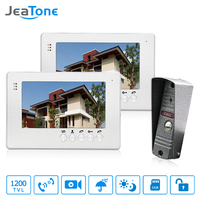 JeaTone 7 LCD Monitor Speakerphone Intercom Color Video Door Phone Doorbell Access Control System IR Camera