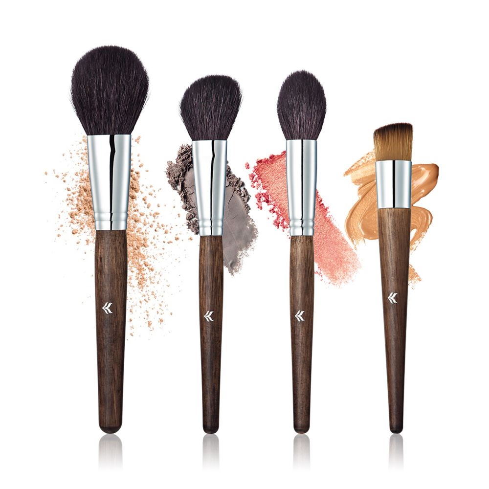 Four Pcs Makeup Brush Tools Of Beauty With The Wooden Handle Which Make Beauty Colser To The Nature assisted soldering tools sa 10 6pcs maintenance tools to disassemble and clean the board brush hook to push fork cones