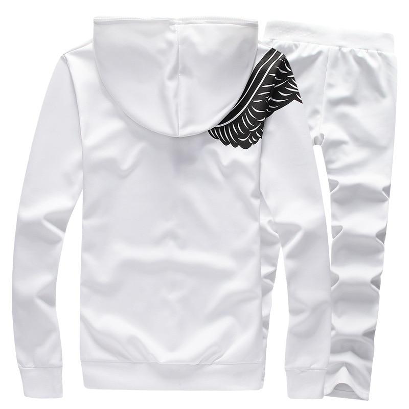 Olahraga Pria Set Musim Gugur Musim Semi Kaus Berkerudung Kasual Set - Pakaian Pria - Foto 2