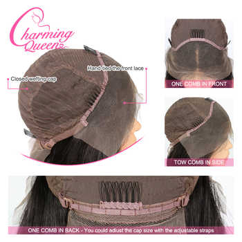 Ombre T4/27 Lace Front Human Hair Wigs 13x4 Colored Straight Short For Women Pre Plucked Peruvian Remy Hair 130% Wig Baby Hair