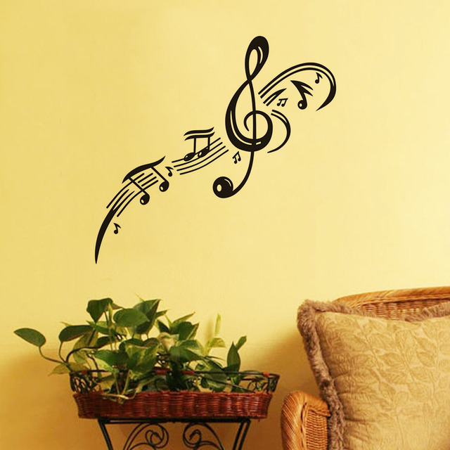 DCTOP Treble Clef Musical Note Wall Stickers For Kids Rooms Home ...