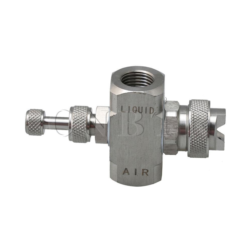 Adjustable Air Atomizing Mist Nozzle Mist Nozzle External Mixing Type