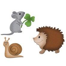 Snail Hedgehog Mouse Metal Die Cuts Cutting Dies For DIY Scrapbooking Embossing Paper Card Making Decorative Craft Dies New 2019
