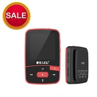 RUIZU X50 8GB Bluetooth MP3 Music Player Sports Clip Sweat Proof Walkman Lossless Sound Quality Red