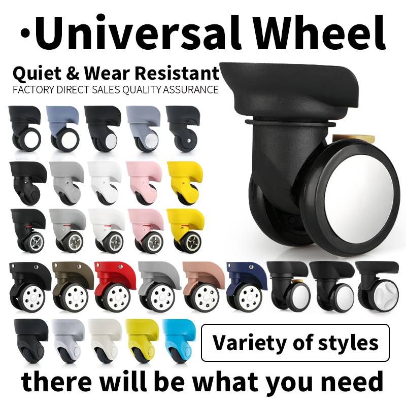 Replacement Casters Silent Swivel Rolling Suitcase Luggage Replacement Trolley Wheel Accessories Case Repair Universal Wheels