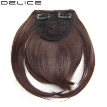 [DELICE] Women's Clip In Straight Synthetic Side Fringe Hair Neat Bangs, 30g/piece