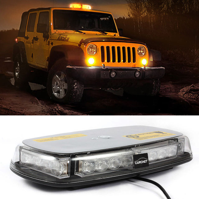 CYAN SOIL BAY Amber Yellow 24 LED 24LED Emergency Warning Rooftop ...