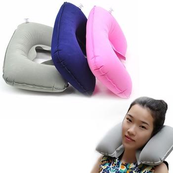 U-образная дорожная подушка надувная Шея Автомобильная голова надувная подушка для отдыха для путешествий офисная ворсовая голова надувна...