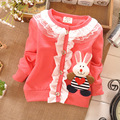 clothing for baby girl Cotton Lace Rabbit Flounced Coat spring,autumn Baby clothing wear cardigan Jackets S0592