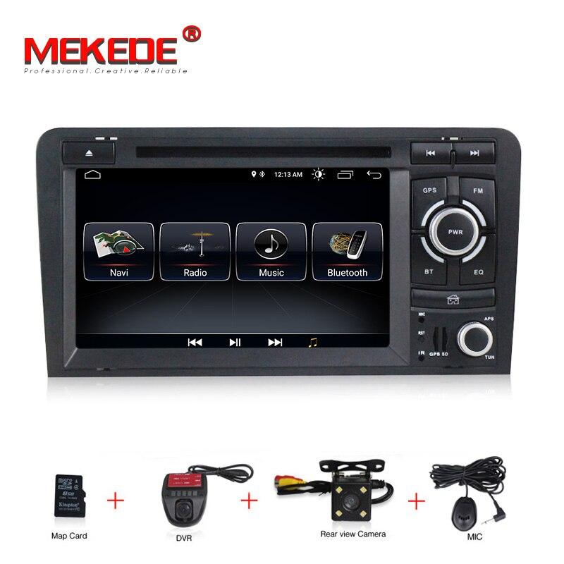 1024X600 Android 8.1 2 din dvd de voiture navigation gps pour Audi A3 S3 2003-2013 autoradio multimédia aoturadio lecteur écran tactile