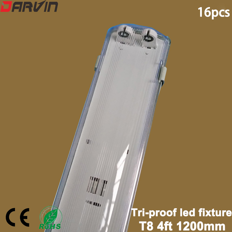 Led Fixture <font><b>T8</b></font> 4ft 1.2M Double Ended Tri-proof Led <font><b>Tube</b></font> Fixture <font><b>T8</b></font> Led <font><b>Tube</b></font> Support <font><b>Bracket</b></font> damp proof Dustproof Explosionproof image