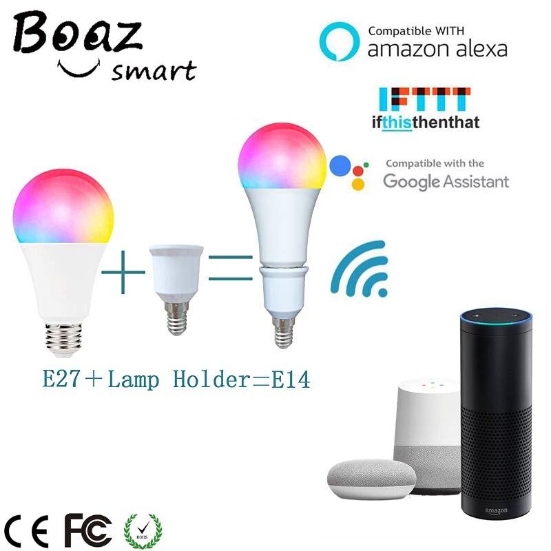 Boaz 7W Wifi Smart Bulb Dimmable Light E27/E14 Lamp Led APP Alexa Echo Google Home Tuya IFTTT  for Night