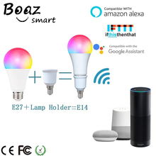 Boaz 7W Wifi Smart Bulb Dimmable Light E27/E14 Lamp Led APP Alexa Echo Google Home Tuya IFTTT  for Night