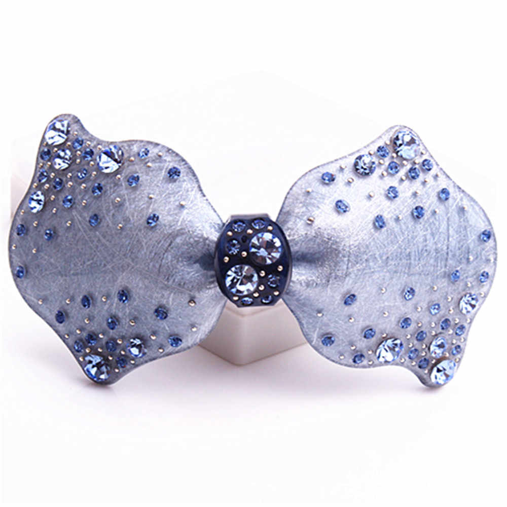 New Arrive Bownot French Acetate Rhinestone Hair Clips crystal barrettes hairpins Hair Jewelry Hot sell  AL03