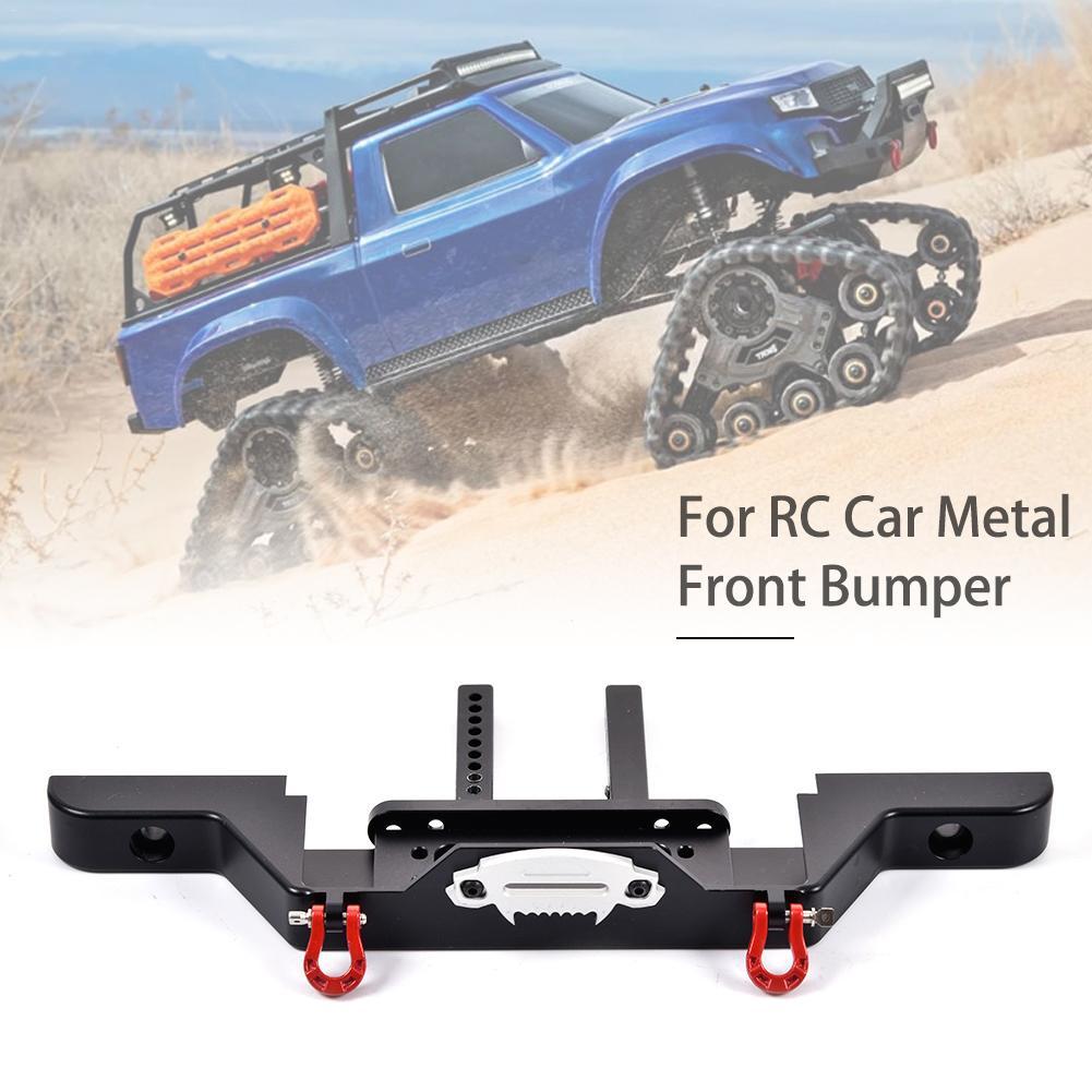 New TRX 4 Rc4wd Axial SCX10 Climbing Car Front Bumper With 2 LED Light TRX4 Metalen Front Camel Trophy Bumper TRX 4 Defender