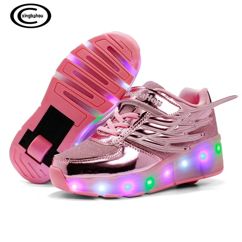 Sneakers with Wheels Heelys Style Roller Sneakers zapatillas deporti kids Roller Shoes Girl boy LED lights Glowing skateshoesSneakers with Wheels Heelys Style Roller Sneakers zapatillas deporti kids Roller Shoes Girl boy LED lights Glowing skateshoes