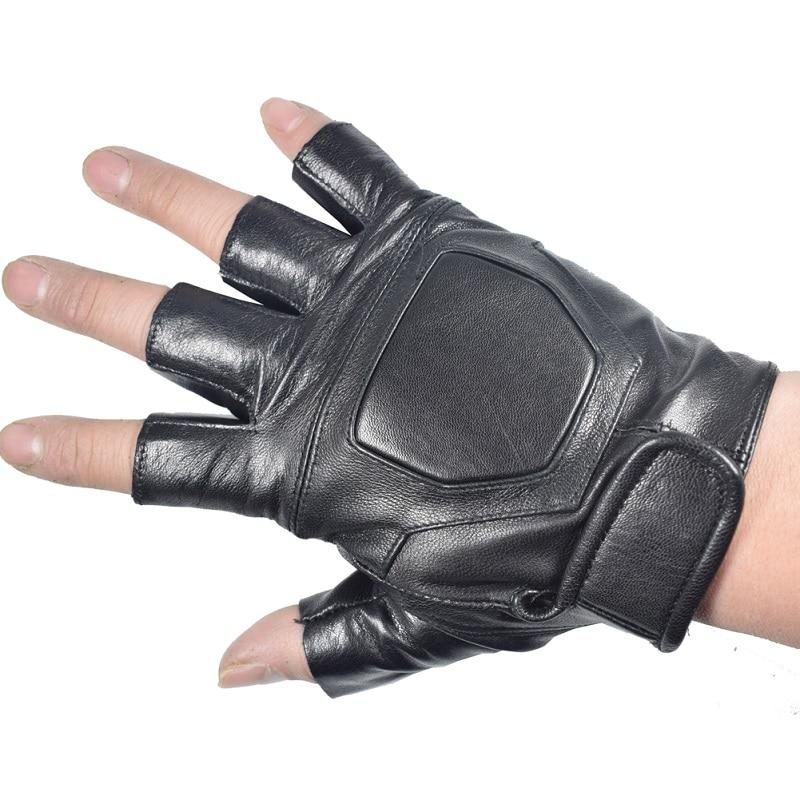 Kuyomens hombres fingerless Guantes muñeca guante medio