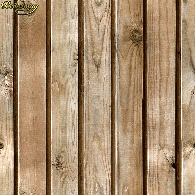 Us 31 92 24 Off Beibehang Solid Wood Texture Imitation Grain Wallpaper Log Color Vintage Plank Ceiling Attic Papel De Parede In