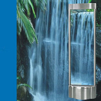 Indoor stainless steel water curtain fountain falls