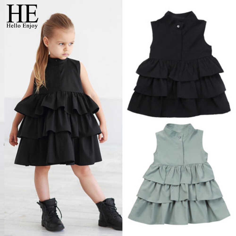 HE Hello Enjoy Baby Girl Clothes Princess Dresses Girls Summer Birthday Costume Dresses Infantil Kids Clothes Children clothing
