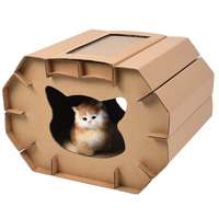 Petacc High Quality Cat Scratcher House Pussy Scratcher Lounge Durable Cat Playhouse With Scratcher Board Suitable