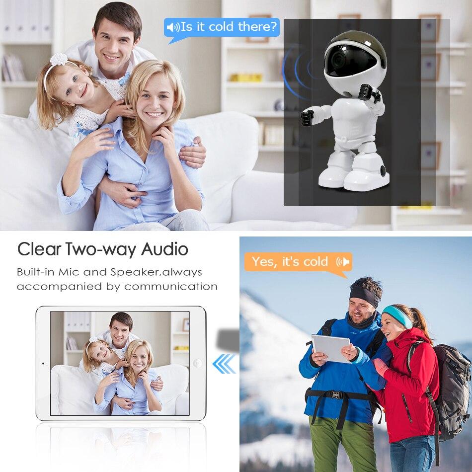 2MP HD WIFI kamera IP kamera robota 1080P kamera noktowizyjna IP sieciowa kamera monitoringu bezprzewodowa CCTV dwukierunkowa Audio