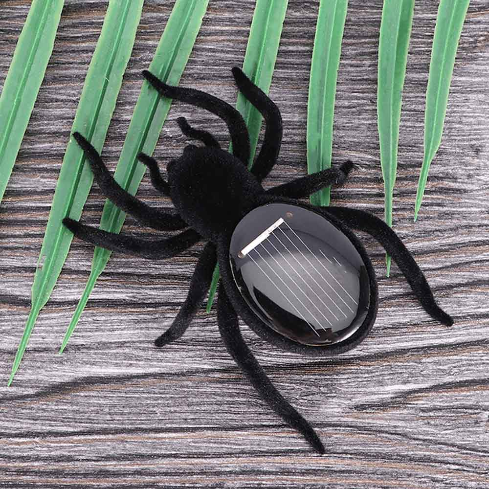 1pcs Children Creative Automatic Solar Spider Tarantula Educational Robot Scary Insect Gadget Trick Toy Solar Toy