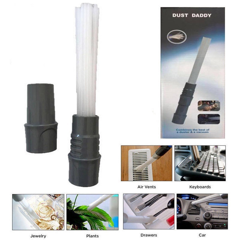 Multi-functional Dust Daddy Brush Cleaner Dirt Remover Portable Universal Vacuum Attachment Tools as seen on tv dust daddy cleaning tools cleaner brush for vents keyboards drawers car crafts jewelry plants rattan dirt remover