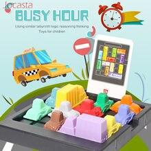 Jogo de quebra-cabeças infantil, brinquedo educativo divertido com lógica de congestão de trânsito e de inteligência