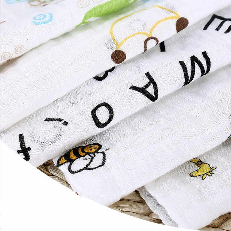 Детская муслиновая пеленка одеяло хлопковые детские одеяла многофункциональное полотенце для пеленания новорожденных одеяло мультфильм Марлевое банное полотенце игровые коврики