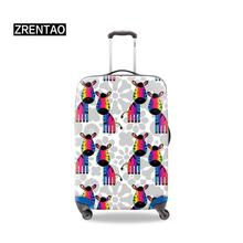 Holiday Accessories Adults Unisex Luggage Set Protective Covers S M L XL Dust Rain Protector Cover Cute Cartoon Animals Printing