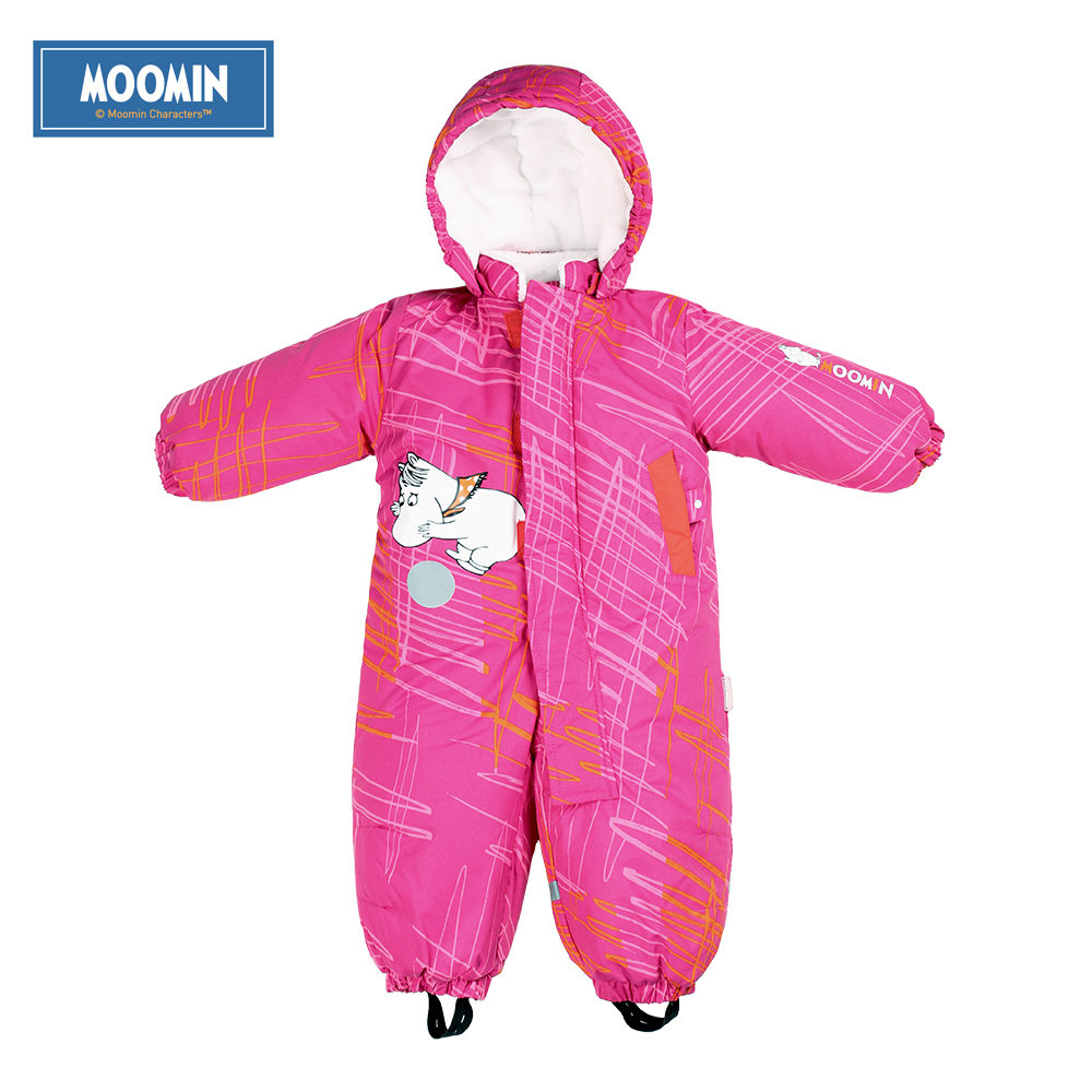 Moomin overall cartoon pink blue long sleeve winter waterproof   romper   infant outdoor   romper   warm winter boys jumpsuit girls
