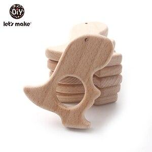 Image 4 - それではカーシート 10 pc ベビー木製おしゃぶりおもちゃ恐竜ベビー歯が生えるおもちゃ木製おしゃぶりベビーおしゃぶりおしゃぶりチェーン