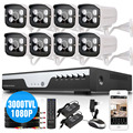 CCTV Video surveillance kit 2MP AHD 1080P Waterproof Security Camera System 8Channel HDMI 1080P DVR NVR Array LEDs day/night CAM