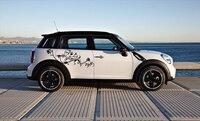 1 Pair Female Flower Vine Vinyl Car Srticker Car Whole Body Graphic Decal Car Styling Universal