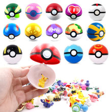 13 pçs/set Pokeball Com Pocket Monsters 1 Pedaço Aleatório Dentro do Ano Novo Presentes para Chidren Mini Pérola Figura Pikachu Squirtle brinquedos(China)