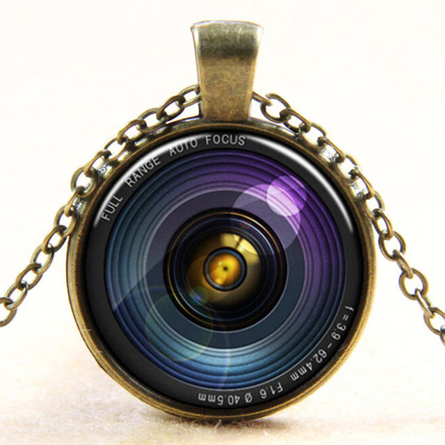 2015 New fashion vintage style camera lens retro pendants handmade necklace jewelry gift for women girls dress accessories