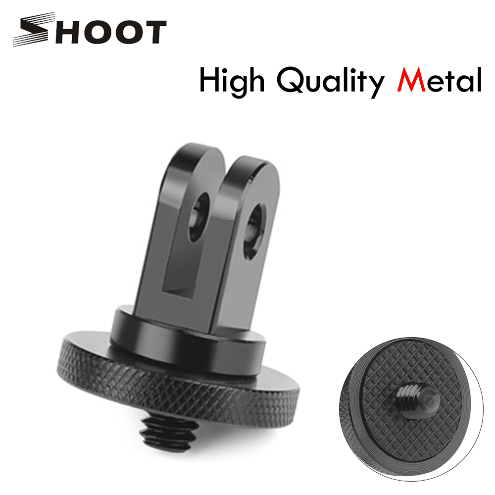 SHOOT <font><b>Metal</b></font> <font><b>1/4</b></font> Mini Tripod <font><b>Adapter</b></font> Mount for <font><b>GoPro</b></font> Hero 5 6 4 Session SJCAM SJ4000 Xiao Yi 4K Eken H9 Action Camera Accessory image