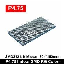 Wholesale Price Indoor P4.75 SMD RG Dual Color Led Panel Module 304x152mm , Replace F3.75 Dot Matrix LED 64x32 Pixels