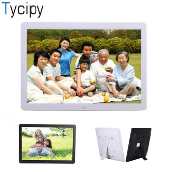 "Tycipy 15"" Digital Photo Frame HD LED Electronic Double Sided LCD Screen Photo Frame with Remote Control for Music Mp3 Video Mp4"
