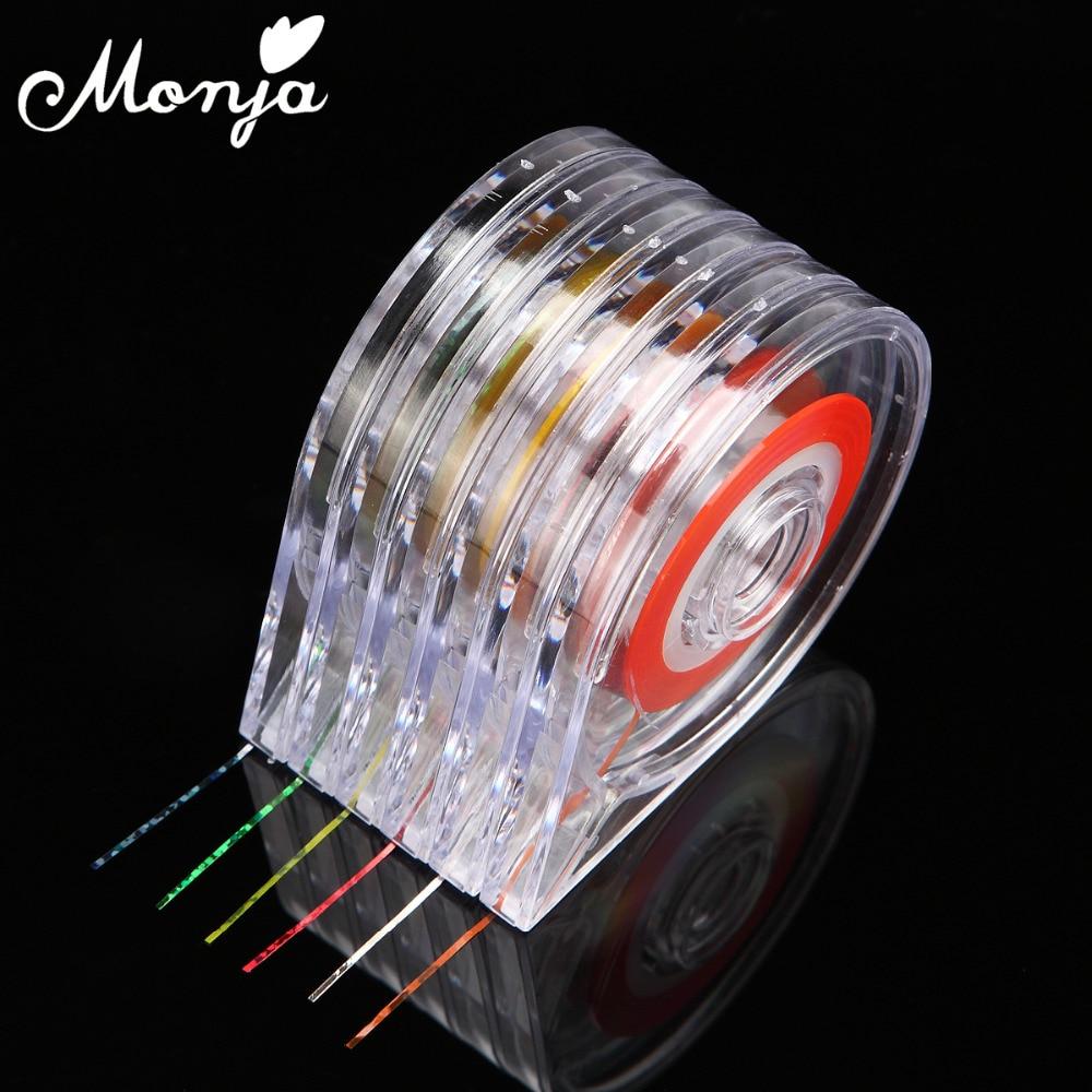 Single Line Nail Art : Pcs set nail art striping tape line case gold silver