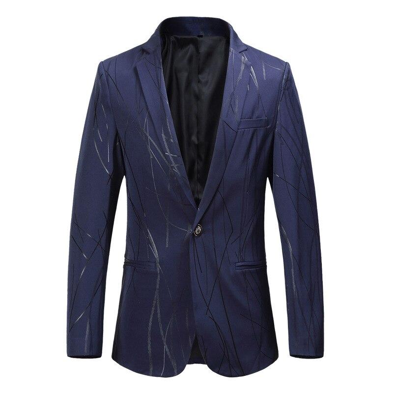 2018 Neue Mens Fashion Print Blazer Design Plus Größe 5xl 6xl Hüfte Hop Heißer Casual Männlichen Slim Fit Anzug Jacke Mantel Männlichen Blazer 100% Original