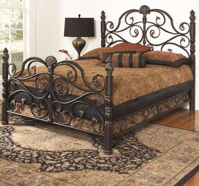 Cama de hierro forjado princesa ropa de cama IKEA persona / camas ...