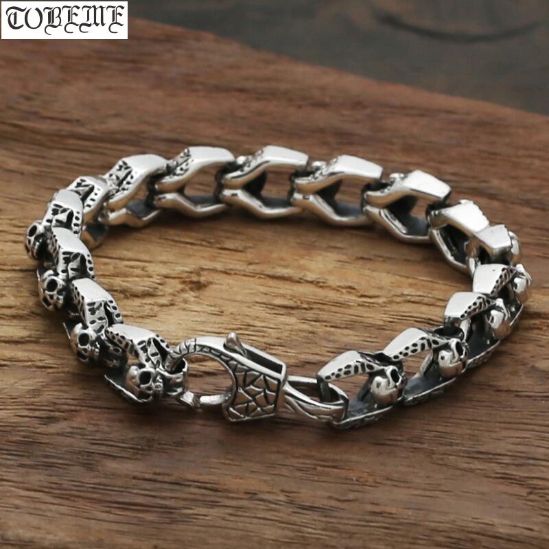 925 Silver Skeleton Bracelet Sterling